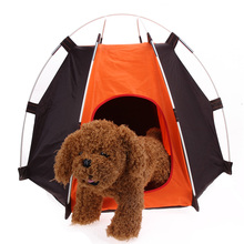 Portable Folding Pet Cat Tent Dog House Shelter Rainproof Washable Camping Dog Tent Cool Pet Home Dogs Puppy Kitten Bed House