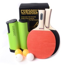 Cuesoul Portable Table Tennis Set with 2 Paddles and 4 Balls