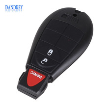 Dankey 5pcs/lot 2 +1 Panic 3 Button Smart Remote Key Fob Shell Case For Chrysler Town Country For Dodge Charger Grand Caravanb