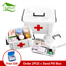 Household First Aid Kit Box Medicine Box Plastic Container Emergency Kit Portable Multi-layer Large Capacity Storage Organizer(China)