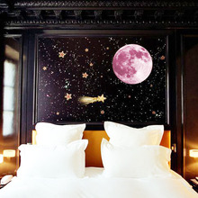 3D Luminous Planet Wall Stickers Glow In The Dark Moon Earth Wall For Kids Rooms Stickers home decoration accessories
