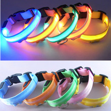 Colleer Pet Dog Night Safety Led Light Collar Light-up Glow Nylon Leash S-XL Electric Flash Collars for Puppy Small Dog Harness(China)