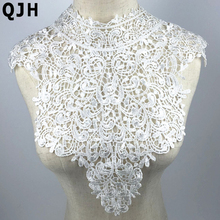 1 Piece Large White Beautiful Embroidery Flower Lace Applique Collar Venise Lace Collar Neckline DIY Sewing Accessories(China)