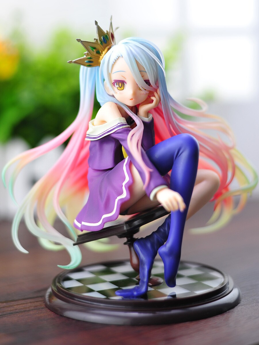 Spot Japan Anime NO GAME NO LIFE Fiction Shiro Refinement 1/7 Scale Complete Figure Collectible Model Toy 15CM Free shipping<br>