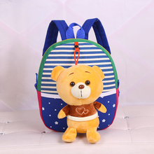 1PC 25cm cartoon small bear plush doll backpacks students shoulder bag Satchel girl children toy gift of baby