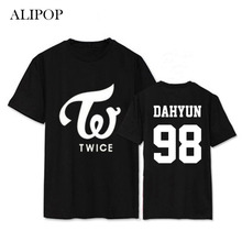 ALIPOP Kpop TWICE MOMO DAHYUN Album Shirts K-POP Casual Cotton Clothes Tshirt T Shirt Short Sleeve Tops T-shirt DX397