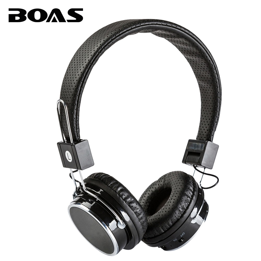 BOAS Bluetooth 4.0 wireless studio headphones stereo headset with microphone earphone support FM TF mp3 player for iphone xiaomi<br><br>Aliexpress