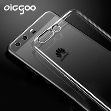 Oicgoo Luxury Soft TPU Ultra Crystal Clear Cases For Huawei P10 Plus P10 lite Case Silicone Cover Phone Bag For huawei P10 Case