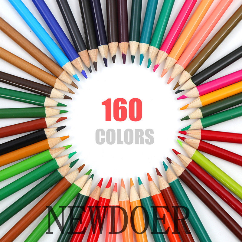 NEWDOER China High Quality 120 / 160 Different Color Pencil Safety Non-toxic Oily Lapis de cor Artist Professional Painting Set<br>