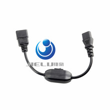 High Quality C14-C13 Extension Power Cord,IEC 320 C13 Female to C14 Male with10A On/Off Switch Power Adapter Cable Fr PDU UPS