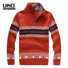 2016 Winter thick christmas Sweater men fashion brand 4 COLORS Pullovers size S-2XL(China)