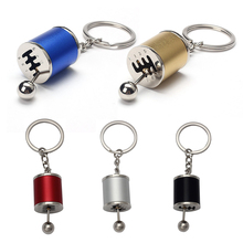 DWCX Car Tuning Parts Gear Shift Keychain Cylinder Key Ring for Ford Mercedes VW Kia Hyundai Honda BMW Audi Toyota Nissan
