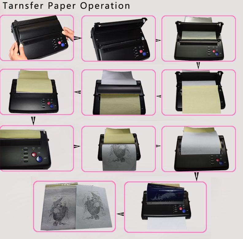 Maquiagem Tattoo copy machine lowest price A4 Transfer Paper black Tattoo copier thermal stencil copy Transfer Machine 12