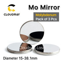 Cloudray High Quality Mo Mirror Dia. 15 19.05 20 25 30 38.1mm THK 3mm for CO2 Laser Engraving Cutting Machine Pack of 3 Pcs