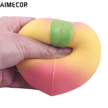 Aimecor lovely pet Jumbo Soft Squishy Peach Charms Cream Scented Slow Rising Kids Toy Phone Strap mar20