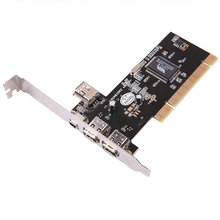 kebidumei 4 Ports Firewire IEEE 1394 4/6 Pin PCI Controller Card Adapter for HDD MP3 PDA