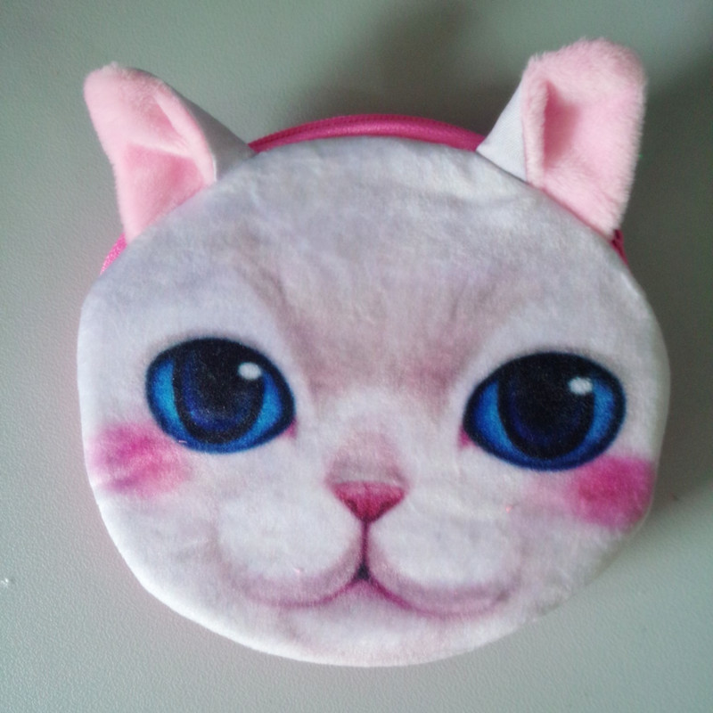 Hot Newest Small Purse For Womens Cute Animal Cat Face Change Female Wallet Card Holder Coin Bag ladies infantiles On Sale<br><br>Aliexpress