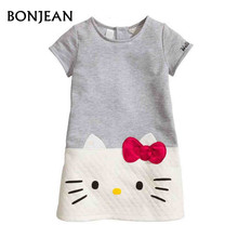 HOT Girls Dresses Baby Hello Kitty 2017 Brand Children Dresses For Girls Party Princess Dress Christmas Kids Clothes