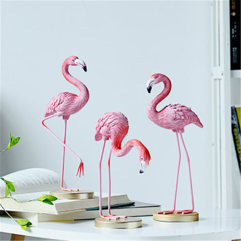 Vacclo 1pc ins Creative House Decoration Flamingo Ornament for The Wedding Gift Birthday Party Weeding Decoration Party Supplies 1