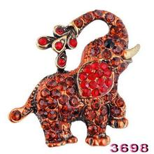 4 colors 2017 Pink crystal Brooches for women fashion decoration jewelry Animal elephant wedding Brooch pin Rhinestone brooches