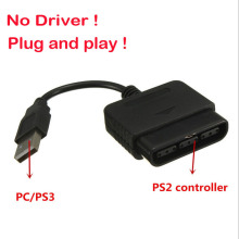 For Sony PS1 PS2 PlayStation Dualshock 2 Joypad GamePad to 3 PS3 PC USB Games Controller Adapter Converter Cable without Driver(China)
