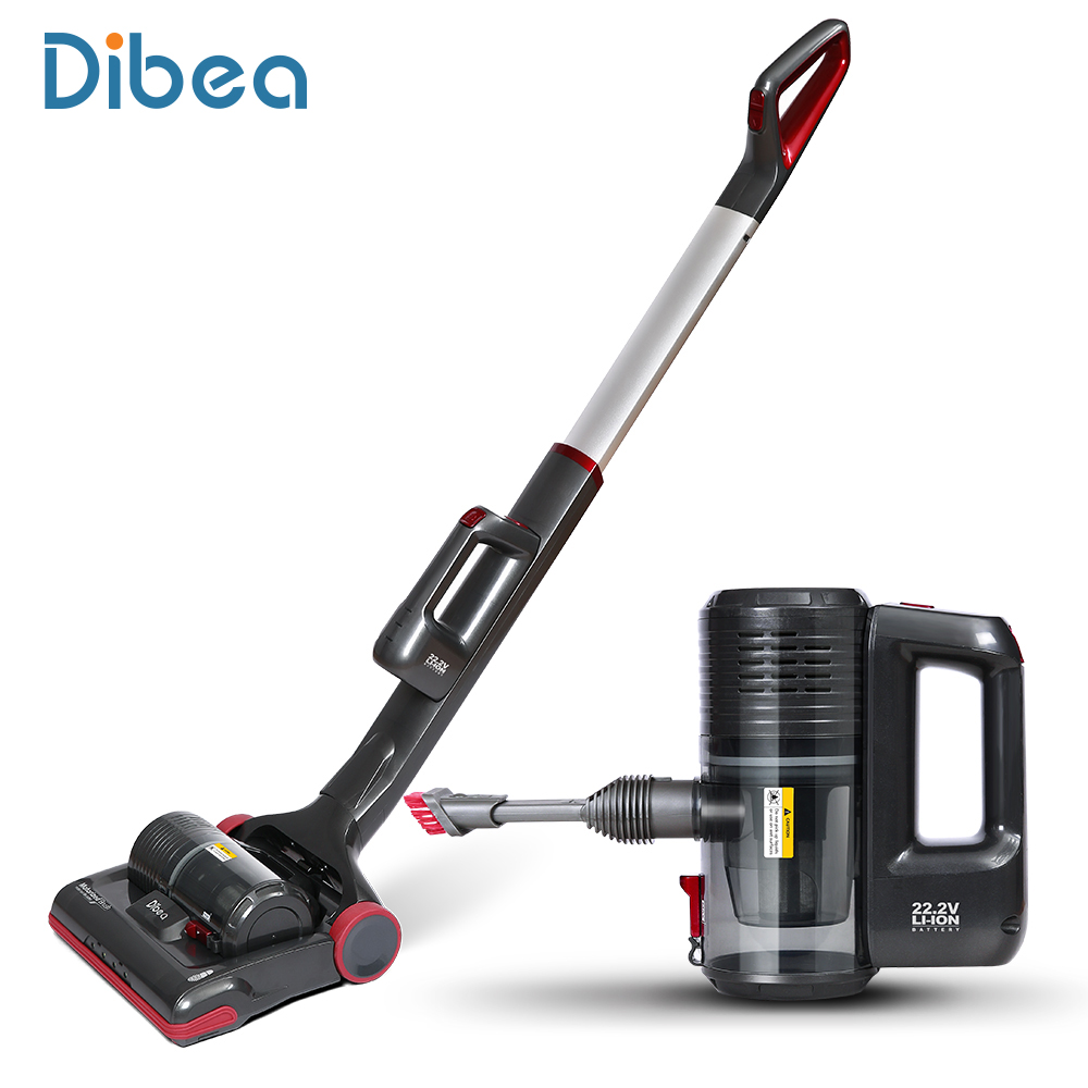 Dibea C01 Cordless Upright Vacuum Cleaner Powerful 2-in-1 Stick and Handheld Vacuum for Carpet Pet Hair with LED Light(China (Mainland))