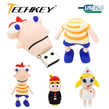 frog usb flash drive 16gb 32gb tablet stick 4gb 8gb 64gb pen drive cartoon gift memory stick usb drive u disk thumb drive