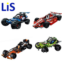 Lis Decool 3411-3414 High Technic 2 in 1 warrior off-roader racer Car Model 3D building block sets Warrior sports car brick toys(China)
