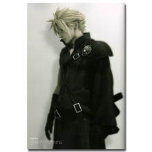 Final Fantasy VII Art Silk Fabric Poster Print 13x20 24x36 inch Vedio Game Cloud Strife Pictures for Living Room Wall Decor 001