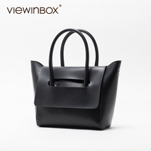 Viewinbox Mini Tote Bag Women's Famous Brand Soft Cattle Leather Small Handbags Casual Style Crossbody Messenger Bag(China)