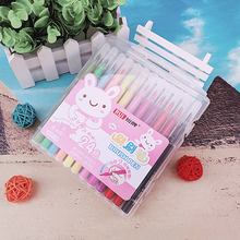Water based pigments color pen 12-24colors/set ,soft nib color clear Advanced drawing special color marker pen(China)