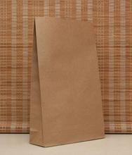 Fashion Brown kraft bag without handle food jewelry gift packaging paper bag 230X120X 75mm for shopping