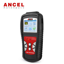 New Ancel AD510 Car OBDII EOBD CAN Scan Tool + Battery Voltage Check Real-Time Universal OBD2 Errors Code Reader Scanner OBD 2(China)