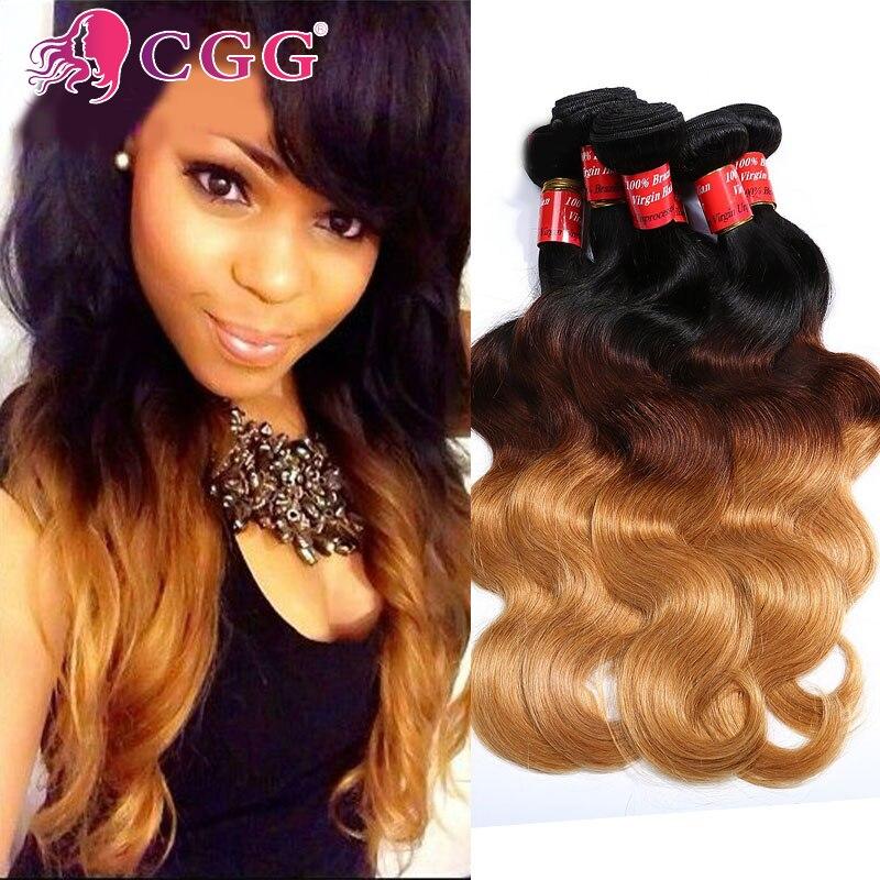 7A Peruvian Virgin Hair Body Wave Ombre Hair Extensions 4PcsLot Cheap Peruvian Hair Weave Bundles Soft Ombre Human Hair T1b/4/27<br><br>Aliexpress