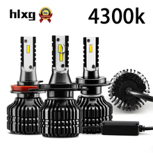 HLXG 2Pcs 9000LM H4 led 4300K CSP Chips H11 LED H7 H1 9005 HB3 9006 HB4 Bulbs For Car Headlight 52W Auto Headlamp Fog Light N29(China)