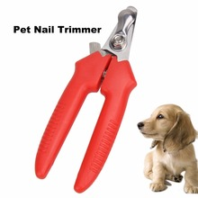 1Pcs Stainless Steel Pet Animal Dog Cat Nail Clippers Scissors Puppy Cat Toe Care Nail Clippers Pet Grooming Trimmer(China)