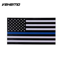 Vehemo American US Flag Blue Stripes Car Sticker Vehicle Body Window PVC Decal Badge Decoration Car Styling For Chevrolet/Ford