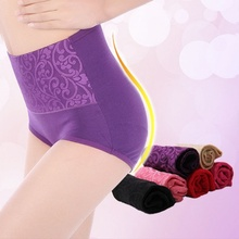 1Pcs Hot Women High Waist Underwear Sexy Cotton Lady Briefs Healthy Panties(China)
