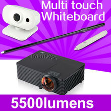 interactive whiteboard Short Throw Daylight 5500ANSI USB HDMI Support 1080p full HD multimedia 3D DLP Projector Proyector beamer