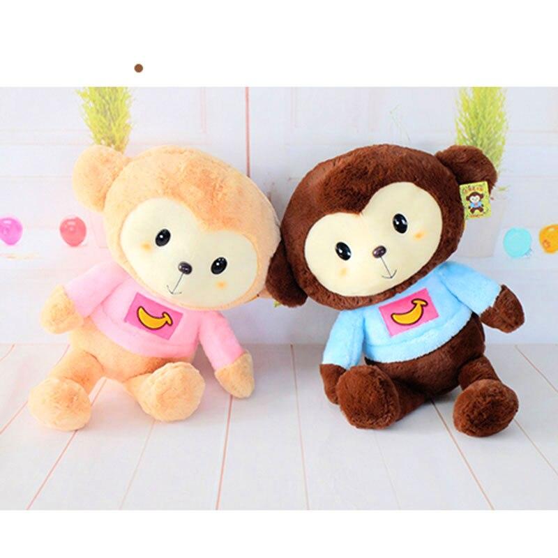 45CM Kawaii Cartoon Monkey Dolls High Quality Soft Plush Toys Stuffed Animals Monkeys Toy for Children Kids Girls Gifts Presents<br><br>Aliexpress