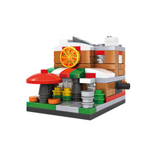 LOZ Mini Blocks Street Shop DIY Building Toys Mini Pizza Shop City Scene Buildings Blocks Toys for Children