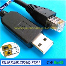 silabs cp2102 usb rs232 to rj11 rj12 rj45 converter cp2102 usb serial adapter cable(China)