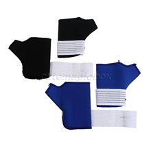 1 Pair Elastic Thumb Wrap Wrist Hand Support Gloves Palm Splint Wrist Support Sport Safety Brace Gym Protection 2Pcs Black/ Blue
