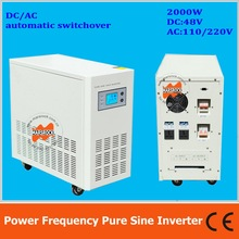 Power frequency 2000W pure sine wave solar inverter with charger DC48V to AC110V220V LCD AC by Pass AVR(China)