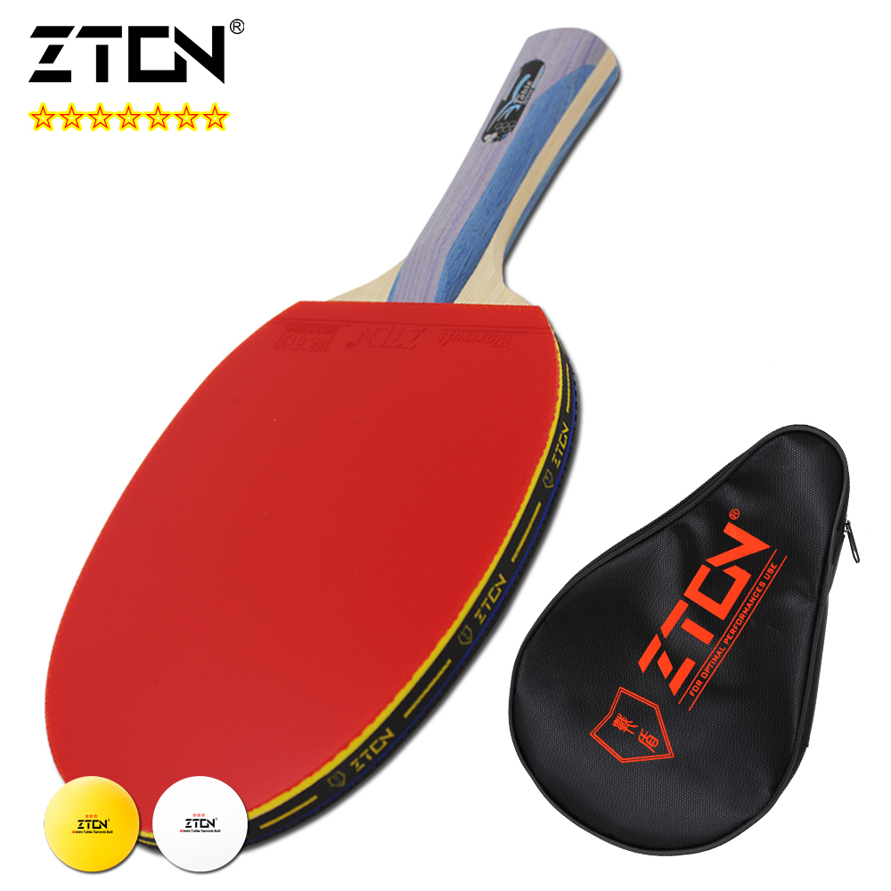 ZTON 7 stars Table tennis racket Ddouble Pimples-in rubber Ping Pong Racket tenis de mesa table tennis<br><br>Aliexpress