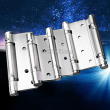 Top Designed 2PCS Stainless Steel Invisible Door Hinges Smoothly & Mute Self-Closing Spring Hinges Automatic Door Closer Hinges