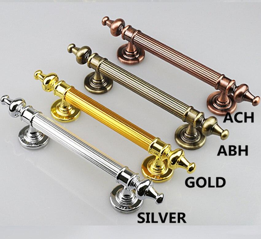 350 290 260MM antique brass wood door handle Unfold Install antique copper big gate door pull silver chrome wooden door handles<br>