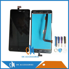 High Quality Black Color For Highscreen Power Four LCD Display+Touch Screen Digitizer Assembly 1PC/Lot With Tools