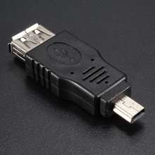 USB Female to Mini USB Male 5 Pin Adapter Converter For Camera Cell Phone