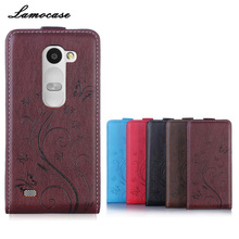 Leather Case For LG Leon 4G LTE H324 H320 H340N H326T C50 C40 Dual Embossing Leather Mobile Phone Bag & Case